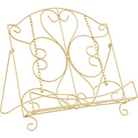 Home of Style Metal Cookbook Stand - Cream