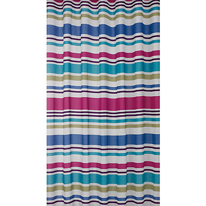 Image for Multicolour Stripe Shower Curtain from StoreName