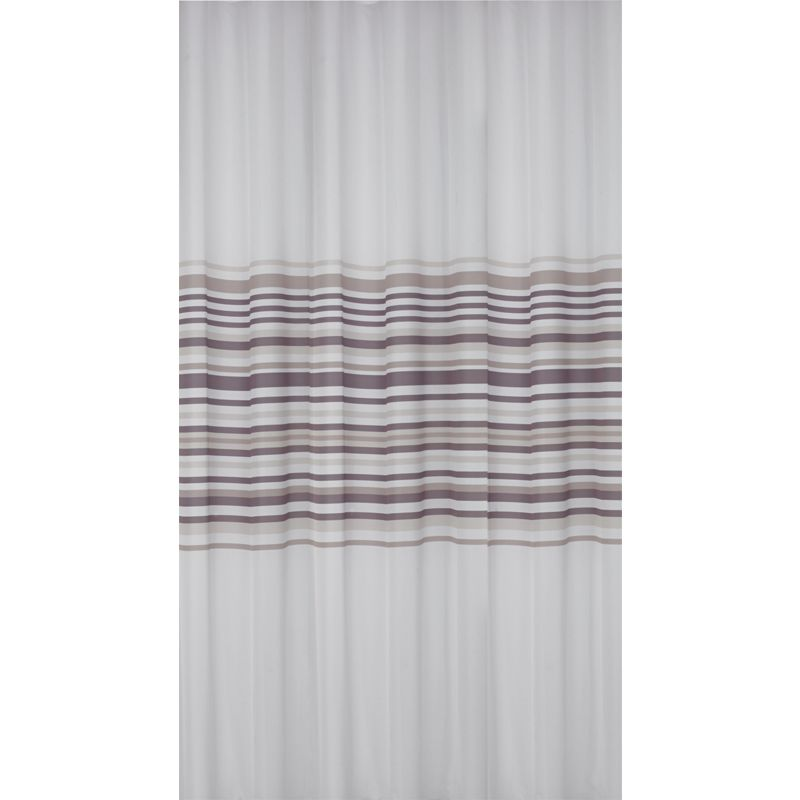 Banded Stripe Shower Curtain Teal