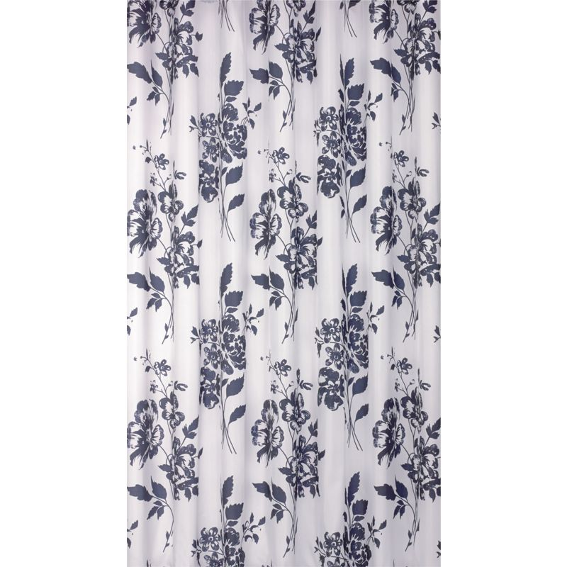 Floral Shower Curtain Black And White