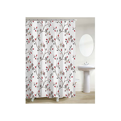 Image for Silk Road Blossom Shower Curtain - Multicoloured from StoreName
