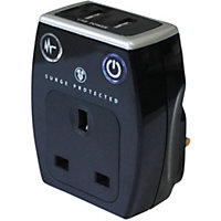 USB Dual Charger With Socket
