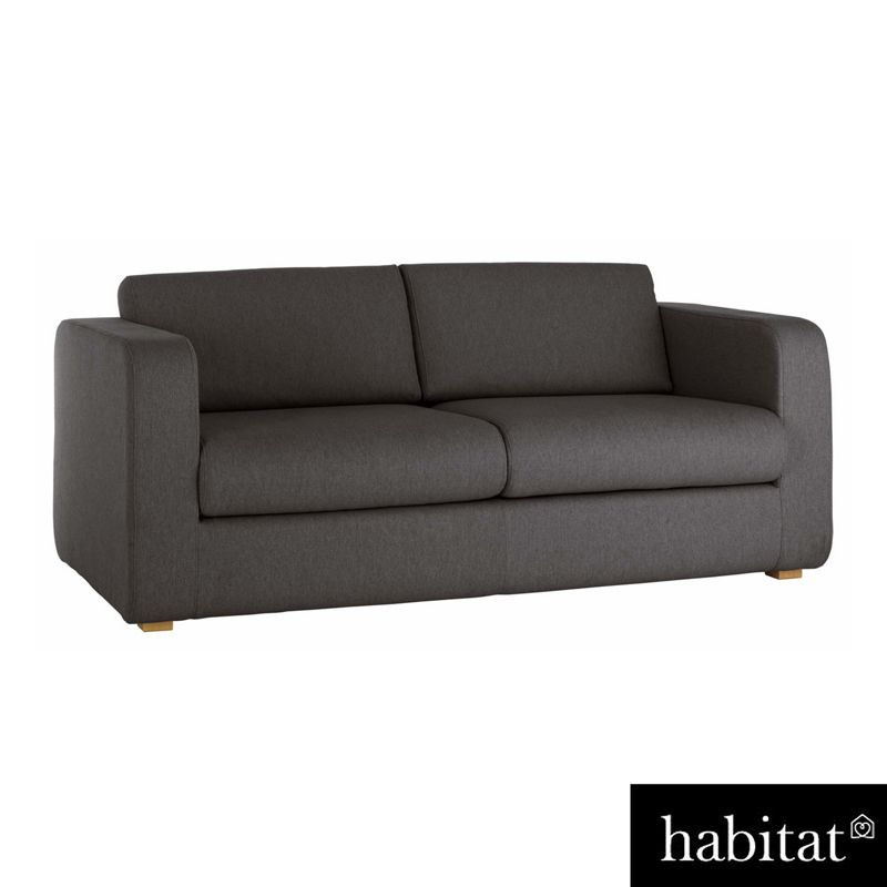 habitat porto fabric 3 seater sofa bed charcoal. Black Bedroom Furniture Sets. Home Design Ideas