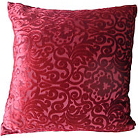 Home Of Style Damask Cushion - Red - 45x45cm