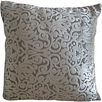 Home Of Style Damask Cushion - Cream - 45x45cm