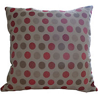 Home Of Style Spots Cushion - Red - 45x45cm