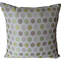Home Of Style Spots Cushion - Green - 45x45cm