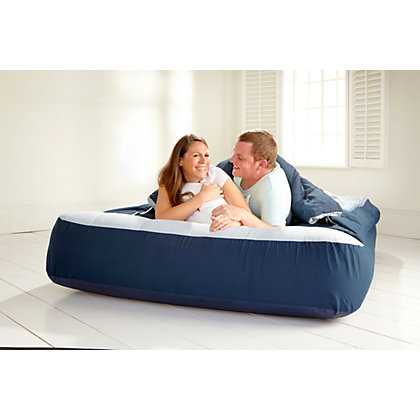 Image for ReadyBed Double Air Bed - Blue. from StoreName
