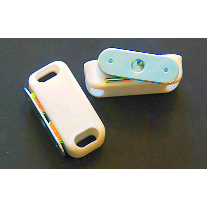 Image for Magnetic Catch - White - Medium - 2 Pack from StoreName