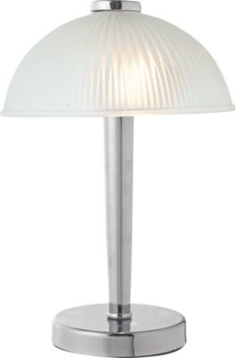 Homebase chrome table lamp astra glass touch table lamp chrome