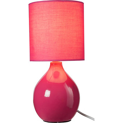 Image for Colour Match Round Ceramic Table Lamp - from StoreName