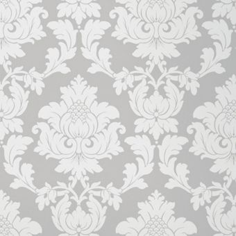Silver damask wallpaper for Wallpaper homebase