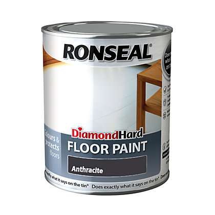 Image for Ronseal Diamond Hard Floor Paint Anthracite - 750ml from StoreName