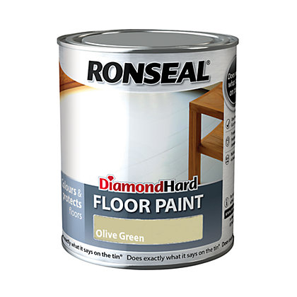 Image for Ronseal Diamond Hard Floor Paint Olive Green - 750ml from StoreName