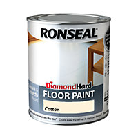 Ronseal Diamond Hard Floor Paint Cotton  - 750ml