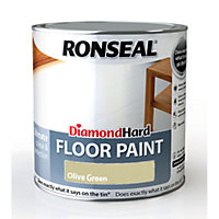 Ronseal Diamond Hard Floor Paint Olive Green - 2.5L