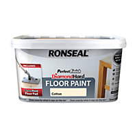 Ronseal Perfect Finish Diamond Hard Floor Paint Cotton - 2.5L