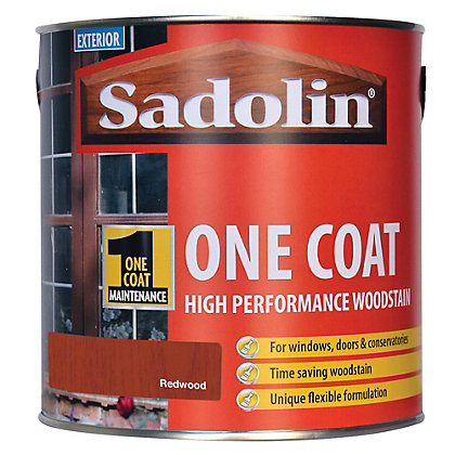 Image for Sadolin Advanced One Coat Woodstain - Natural Redwood - 2.5L from StoreName