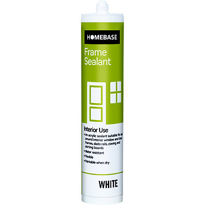 Image for Homebase Acrylic Frame Sealant - White from StoreName