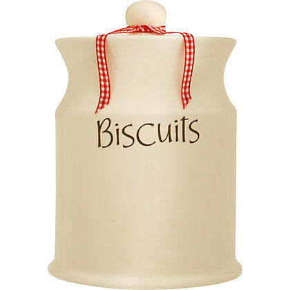 Image for Home of Style Vintage Biscuit Jar - Cream from StoreName
