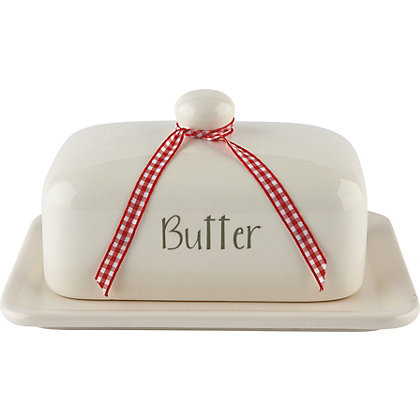 Image for Home of Style Butter Dish - Cream from StoreName