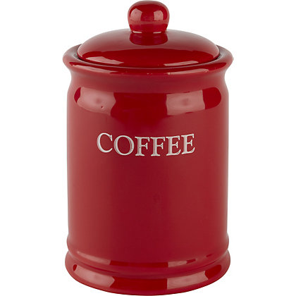 Image for Home of Style Vintage Coffee Canister - Red from StoreName