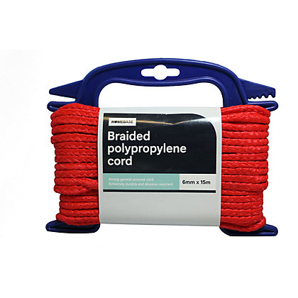 Image for Polypropylene Braided Cord Red Handireel - 0.6 x 1500cm from StoreName
