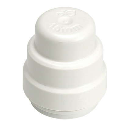 Image for Easyfit Stop Ends - Plastic - 15mm - 2 Pack from StoreName
