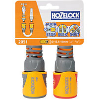Hozelock Fitting Plus Hose End & Aquastop - Twin Pack