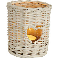 White Heart Willow Case Tealight Holder- Large