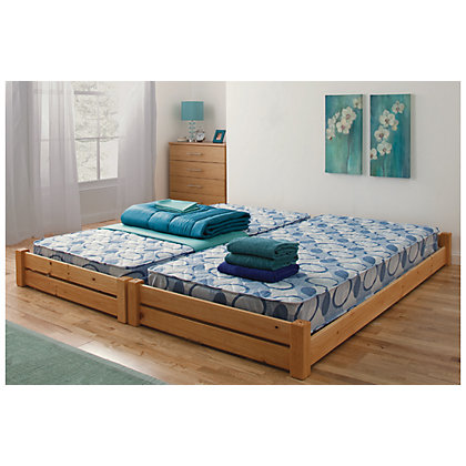 stakka single guest bed pine at homebase be inspired. Black Bedroom Furniture Sets. Home Design Ideas