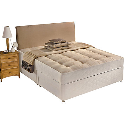 Silentnight miracoil white 2 drawer double divan for White double divan bed