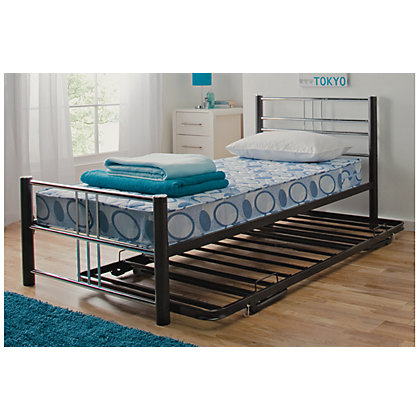 Image for Atlas Guest Bed - Black. from StoreName