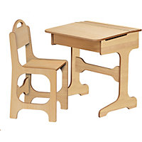 Saplings Desk and Chair - Solid Pine.