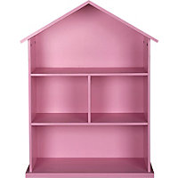 Mia Dolls House Bookcase - Pink.
