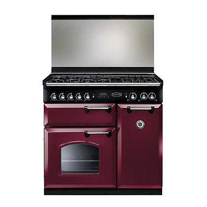 Image for Rangemaster Classic 90 Lidded Dual Fuel Range Cooker-Cranberry from StoreName