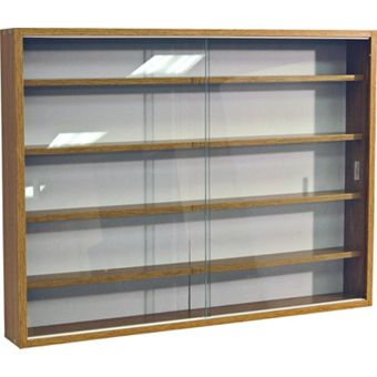 Brown Glass Display Cabinet