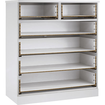 Image for Schreiber Contemporary 4 plus 2 Drawer Wide Chest - White Gloss from StoreName
