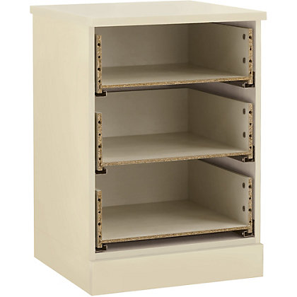 Image for Schreiber 3 Drawer Bedside Chest - Classic Ivory from StoreName