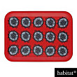 Habitat - Freda Floral-Patterned Rectangular Tray - Red