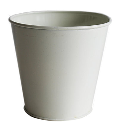 Image for Cream Metal Indoor Plant Pot - 13cm from StoreName