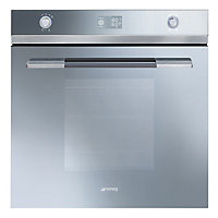 Smeg SFP125S Pyroclean Oven - Silver Glass