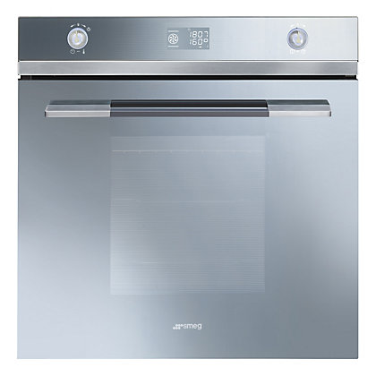 Image for Smeg SFP125S Pyroclean Oven - Silver Glass from StoreName