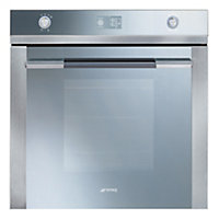 Smeg SFP125 Pyroclean Oven - Silver Glass & Stainless Steel