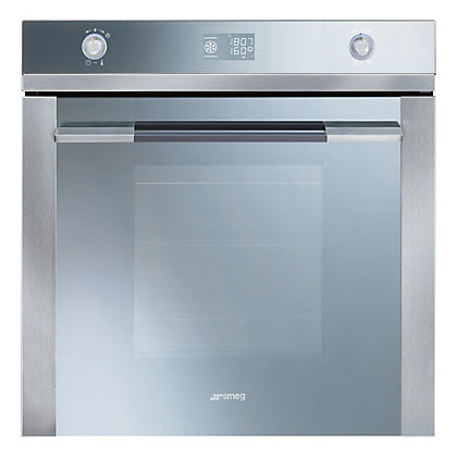 Image for Smeg SFP125 Pyroclean Oven - Silver Glass & Stainless Steel from StoreName