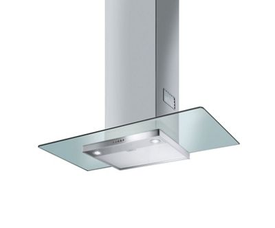 Image of Smeg KFV92D 90cm Chimney Hood - Stainless Steel and Glass