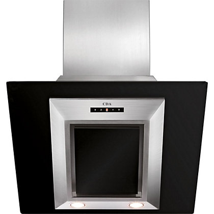 Image for CDA EVG6BL 60cm Designer Chimney Hood - Black from StoreName