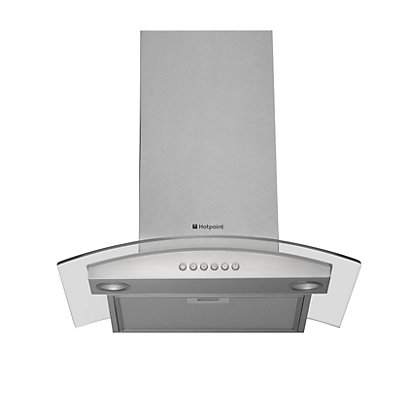 Image for Hotpoint HDA6.5AB Glass Chimney Hood - 60cm from StoreName