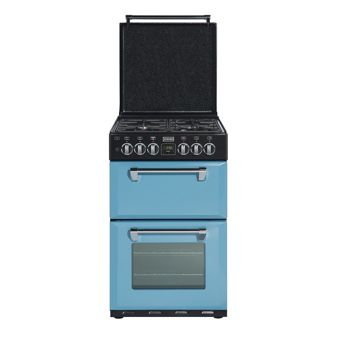 blue steel kitchen appliances