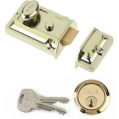 Image for Yale 77 Traditional Nightlatch 60mm - Brass from StoreName